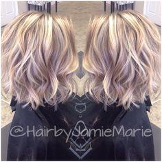 "63 Likes, 19 Comments - Jamie🖤Marie (@hairbyjamiemarie) on Instagram: ""Shorter hair and added texture for my client! @kerala_m #hairbyjamiemarie #tanglestotoes"""
