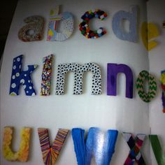 Crafty wooden letters :: perfect for a kid's craft room #landofnod