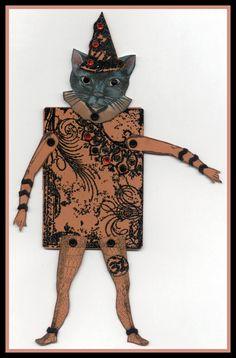 Vintage Dragonfly: Halloween Paper Dolls