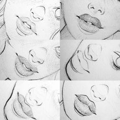 """478 Likes, 6 Comments - Yazmin (@ydartistry) on Instagram: """"Lips and noses!!"""""""