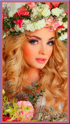 Beautiful Fantasy Art, Beautiful Gif, Beautiful World, Beautiful Flowers, Beautiful Pictures, Photography Women, Portrait Photography, Fair Face, Floral Headdress
