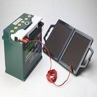 Prevent the battery on your car, caravan or motor home from going flat with this solar battery charger