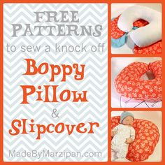 FREE pattern for a Boppy-style pillow. Also for slipcovers that fit the brand name Boppy.