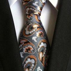 8 cm neck ties for men luxury silk mens necktie corbata black Gravata Jacquard Slim Tie Business paisley corbatas seda Paisley Tie, Tie Styles, Wedding Ties, Gold Wedding, Wedding Dresses, Suit And Tie, Plaid Pattern, Paisley Pattern, Silk Ties