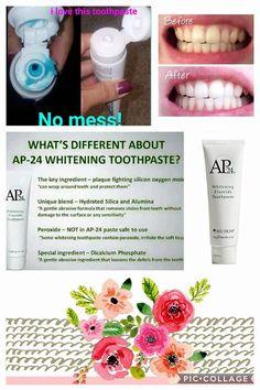 Love my AP24 whitening toothpaste by NuSkin!