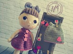 Amigurumi Doll, Dress First, Baby Knitting, Fashion Backpack, Dolls, Awesome, Cute, Bags, Etsy