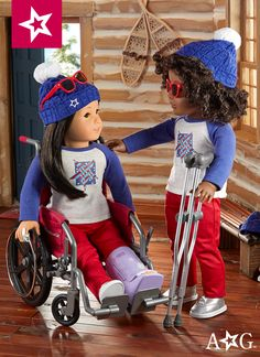 Hurray for the USA! Dolls can show their patriotic pride with this set.
