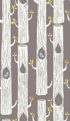 Trees in Brown, Circa 52 Collection by Birch Organic Fabric