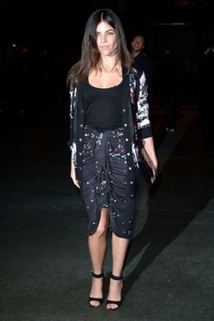 Best Seats: Front Row at Paris Fashion Week Fall 2014 Julia Restoin Roitfeld, Carine Roitfeld, Night Looks, Front Row, Night Out, Latest Trends, Sequin Skirt, Street Style, Style Inspiration