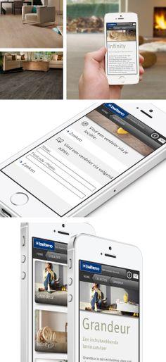 Mobiele website voor Balterio - Bekijk deze op smartphone naar keuze.