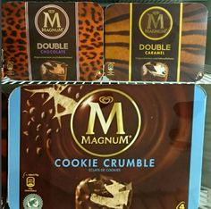 Magnum Double Chocolate, Double Caramel and Cookie Crumble Ice Cream Bars