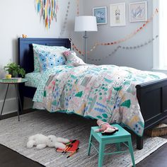 Twin Folktale Forest Duvet Cover|The Land of Nod