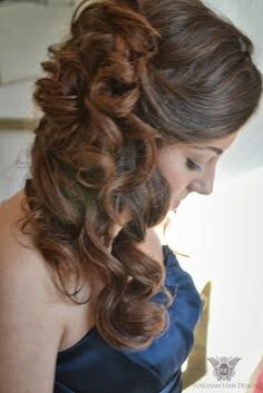 bridesmaid side swept hair style wedding hair styling by fordham hair design gloucestershire