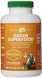 Amazing Grass Green Super Food ,  650 mg, 150 Vegetarian Capsules