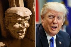 VeeNaija.com     NEWS & GIST SEE PHOTOS: Donald Trumps FaceFace Spotted In Ancient Church That Is 700 Years Old