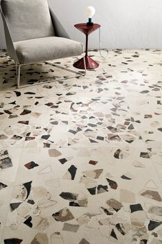 Such an interesting and unique tile range, Garrison really stands apart from the more typical natural effect tiles that we usually showcase. We love the oversized terrazzo style chips that seem to be embedded in the surface of the tiles.