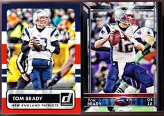 NEW ENGLAND PATRIOTS LOT OF 2 2015 TOM BRADY DONRUSS & TOPPS BOTH NMMT CONDITION
