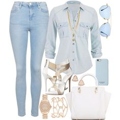 Jean & Rose Gold by carolineas on Polyvore featuring polyvore, fashion, style, maurices, Topshop, Giuseppe Zanotti, Michael Kors, Alexis Bittar, Kendra Scott, Vince Camuto, Dita and Isaac Mizrahi