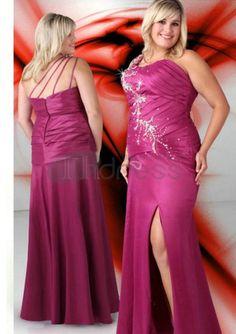 Abiti da Ballo Taglie Forti-Uno scollo a v in pizzo spalla fino perline abiti da ballo taglie forti