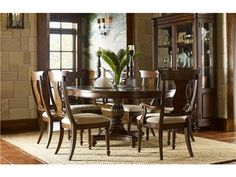 Legacy Classic Furniture High/Low Round to Oval Pedestal Table 5200-521K 5200-521-T 5200-521-B