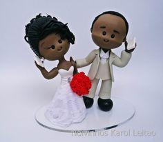 » Blog Archive Topo de bolo: Noivinhos de Biscuit Wedding Cake Toppers, Wedding Cakes, Pinwheel Bow, Clay Dolls, Purple Wedding, Pinwheels, Clay Art, Fondant, Biscuits
