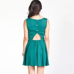 Back Button Dress