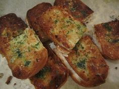 What a fantastic idea- using Udi's hotdog buns as toasted garlic bread