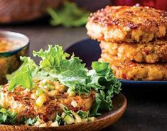 Lettuce-Wrapped Fish Cakes with Sweet- Tart Sauce Recipe - Clean Eating Magazine