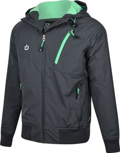 Emerson men's  jkt with  hood and rib bottom (M...