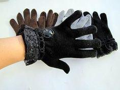 DIY Gloves : DIY Accessories : DIY Fashion : DIY Refashion : DIY Sew : DIY Upcycle