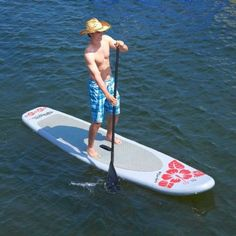 Hibiscus Inflatable Stand up Paddle Board SUP