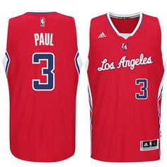 a54df0e45bef Chris Paul LA Clippers adidas Player Swingman Road Jersey - Red