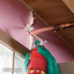 In just a couple of hours, you can seal and insulate your rim joists, which are major sources of heat loss in many homes. This project will help lower yo