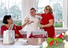 tear bride happy mother in law