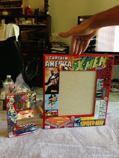 Things made for Ethan's superhero room