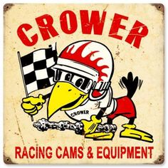 Vintage Racing Cams Metal Sign, $39.97 (http://www.jackandfriends.com/vintage-racing-cams-metal-sign/)