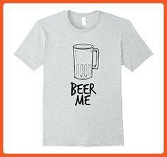 Mens Beer Me T-Shirt Medium Heather Grey - Food and drink shirts (*Partner-Link)