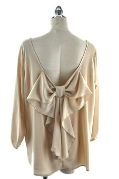 Nude Bow Back Shirt 1x, 2x, 3x. $45.00. Blondellamy'Dean is a boutique just for Curvy Girls. Sizes 10- 28. Specialty sizes up to a size 36. Use coupon code: pin10 for 10% off your first purchase on www.blondellamydean.com or like us on www.facebook.com/blondellamydean