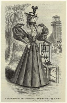 Toilette De Courses. From New York Public Library Digital Collections.