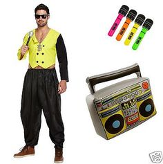 80s rapper rap star mc hammer hip hop fancy #dress #costume #ghetto blaster & mik,  View more on the LINK: http://www.zeppy.io/product/gb/2/231727401410/