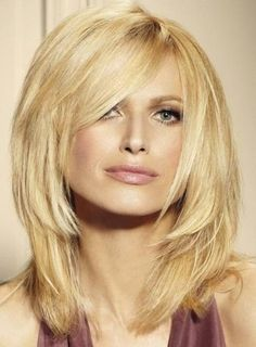 New Arrival Chic Medium Stright Light Blonde Lace Front Wig About 14 Inches