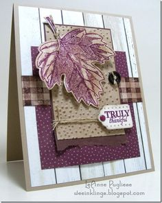 LeAnne Pugliese WeeInklings Paper Players 264 Vintage Leaves Stampin Up Paper Pumpkin