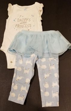 Mixed Items & Lots Responsible Girls 12m Baby Clothes Lot Outfit Carters 5 Pieces Euc Lot# 47
