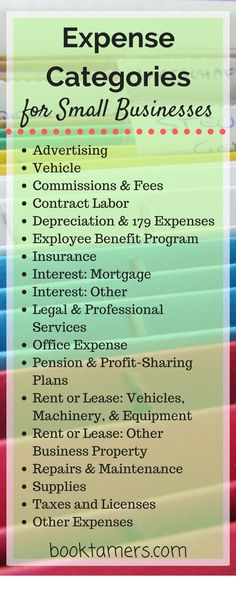 Super Helpful List of Business Expense Categories for Small Businesses! Based on… Super Helpful List of Business Expense Categories for Small Businesses! Based on the Schedule C IRS tax form. Small Business Bookkeeping, Small Business Accounting, Business Marketing, Accounting Basics, Small Business Software, Business Management, Business Planning, Business Tips, Online Business