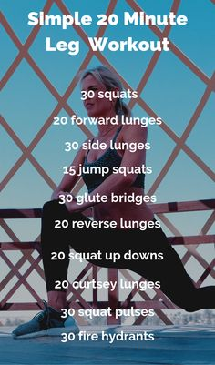 20 Minute No Equipment Leg Burner Workout