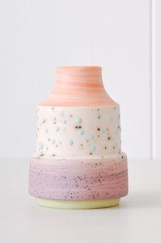Bud Vase - Aqua Dot by KOROMIKO. Handmade in Minnesota by ceramicist Ben Fiess.