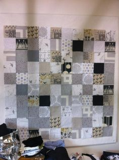 Quilt to made by me. Contains some favourite fabrics including Aunty Cookie and Skinny Laminx.