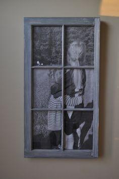 Farmhouse Window as Picture Frame. $95.00, via Etsy.