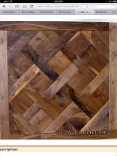 Walnut parquet floors