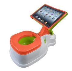 Amazon.com: CTA Digital 2-in-1 iPotty with Activity Seat for iPad: Baby. Very creative.